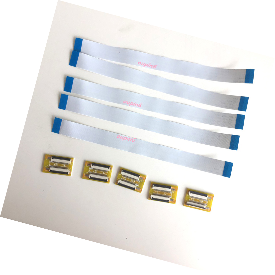 5Pcs Ffc Fpc 50-Pin 0.5MM Pitch Ribbon Flat Cable Wire Zif Hdd 15Cm Long ii