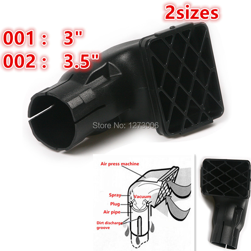 цена на 1Pc 3/3.5 Inch Black 15x10cm/20X15cm Car Air Intake Ram Fit Off Road Replacement Mudding Snorkel Head Air Intake Ram