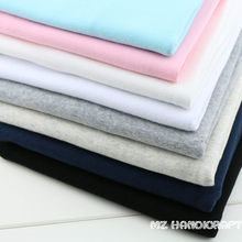 Bainha de algodão macio para costura, tecido elástico para costura faça você mesmo, acessórios de tecido de algodão 20x100cm, 1x1