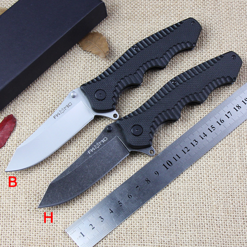 Outdoor Hunting Fox Folding Knife 440C Blade+G10 Handle Camping Pocket Knife Tactical Survival Knives Portable Rescue EDC Tools  цены
