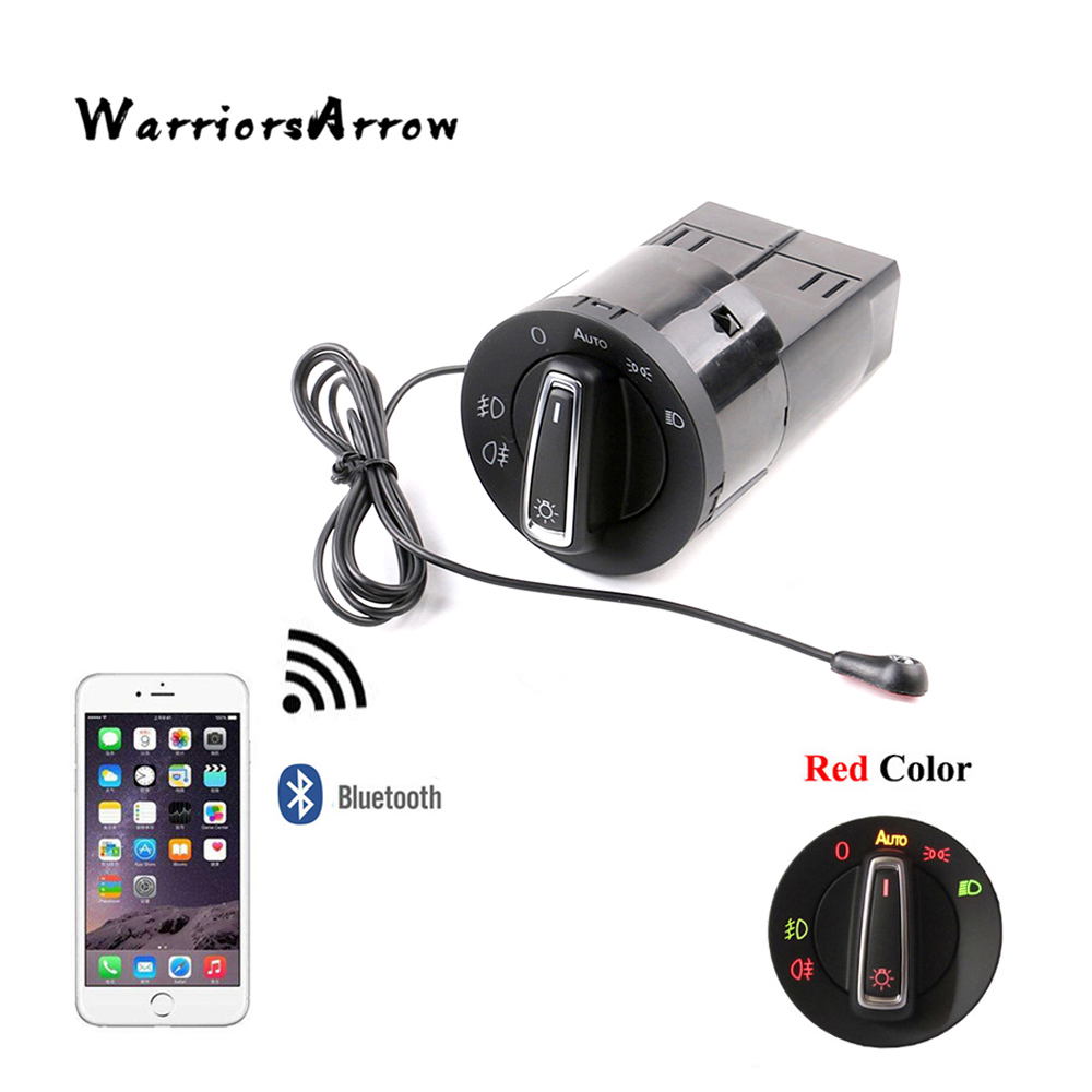 WarriorsArrow AUTO Headlight Switch Knob Light Sensor Module Bluetooth Upgrade For VW Golf MK4 MK4 Passat