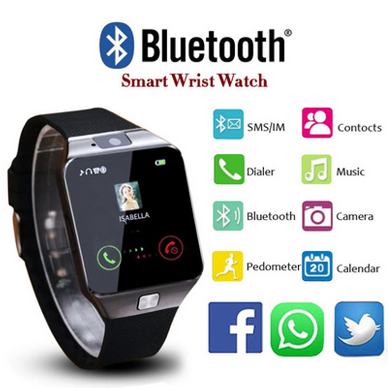 Bluetooth Smart Watch DZ09 Support GSM Sim TF Card Clock Watches Fitness Activity Tracker Sleep Monitor