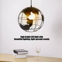 Globe Map LED Light LED E27 Earth Shape Globe Map Pendant Light Modern Art Hanging Lamp For Bedroom Dining Room(China)