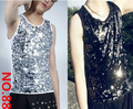 Men Singer DS nightclub Slim sequined vest men stage costumes / M-XL