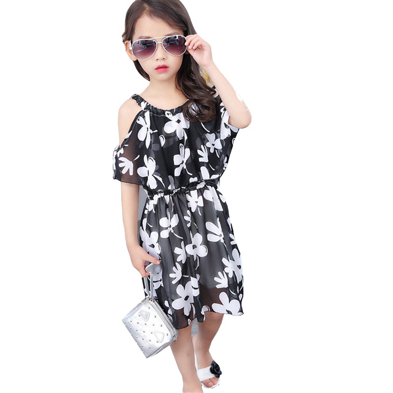 Girls Fashion Clothes: Big Girl Dresses Summer 2017 New Children's Clothing Kids
