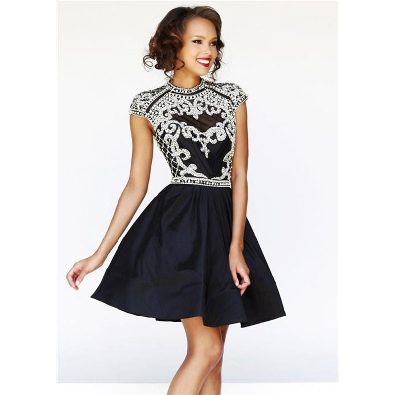 Popular Short Black Prom Dresses-Buy Cheap Short Black Prom ...