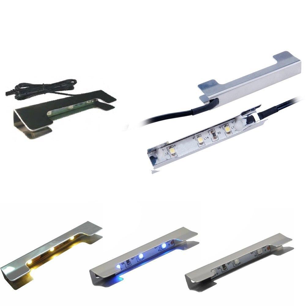 aiboo onder kast led verlichting voor glas rand plank back side clip klem strip verlichting 8 lampen met rf afstandsbediening en adapter in aiboo onder kast
