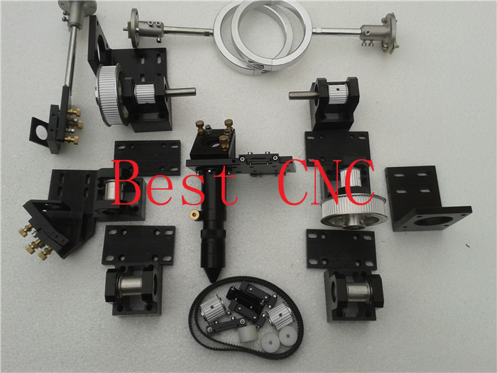 whole set mechanical components for installing a co2 laser cutting  machine laser head limit switches for laser cutting machine with co2 laser mechanical parts whole set diy rectangular wheel linear slide rail