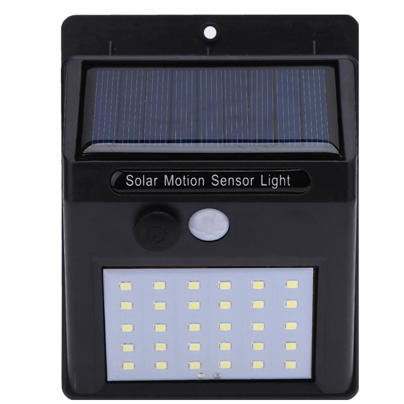 1-4Pcs 30 LEDs Solar Light PIR Motion Sensor Solar Garden Lamp Waterproof Outdoor Energy Saving Street Yard Path Light Dropship 1