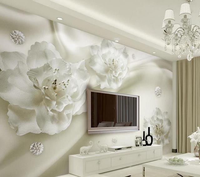decoracin del hogar clsico papel tapiz para paredes de estilo europeo flores de seda foto murales