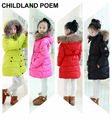 Jacket Girl Casual Children Parka Winter Coat Duck Long Section Down Thick Fur Hooded Kids Winter Jacket For Girls Outerwear