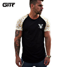GITF Running Jogging Cotton t shirt Men Gym Fitness Bodybuilding Workout Training Short sleeve Slim T-shirts Male Tees Tops
