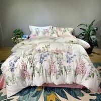 Luxury Silky Egyptian Cotton Duvet Cover Bedlinen Queen King Size Bedsheet Bedding Set Soft Bed cover Bedclothes ropa de cama