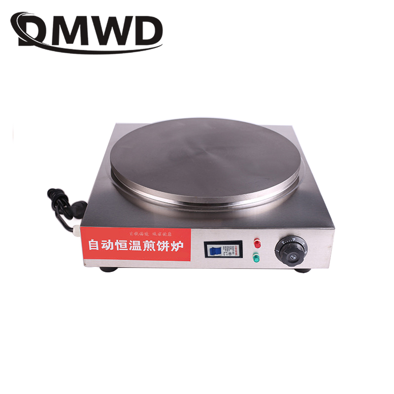 Commercial Stainless Steel Electric Crepe Pancake frying pan Professional Scones Bread Maker egg roll Machine EU