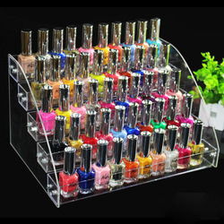 New Acrylic 5 Tiers Nail Polish Display Cosmetic Organizer Nail Polish Rack Lipstick Jewelry Display Makeup box Stand Holder
