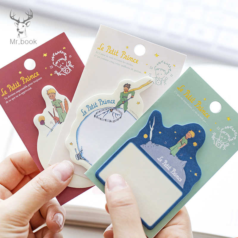 3 Pcs/set Kartun Little Prince Memo Pad Kertas Lengket Catatan Planner Stiker Tempel Kawaii Stationery Kantor Sekolah