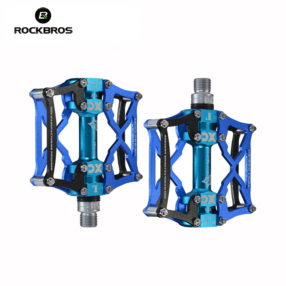 ROCKBROS Bicycle Pedals MTB Bike Pedal Platform Cycling Outdoor Sports Multi-color Mountain Pedal Bicycle Accessories rockbros bike mtb magnesium pedals platform cnc steel axle titanium axle magnesium ouriding bike parts platform bike pedal