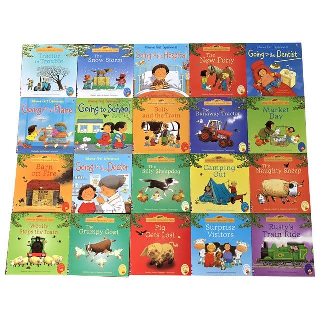 20 pièces/ensemble 15x15cm Usborne photo livres anglais pour enfants et bébé histoire célèbre contes anglais série de livre enfant histoire de ferme