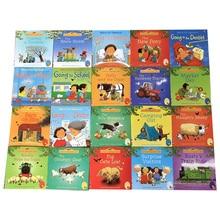 Juego de 20 unidades de libros en inglés de 15x15cm para niños y bebés, serie de cuentos en inglés, Farm Story
