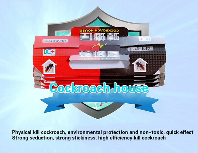 10Pcs Cockroach House Cockroach Trap Repellent Killing Bait Strong Sticky Catcher Traps Insect Pest Repeller Eco- friendly Traps