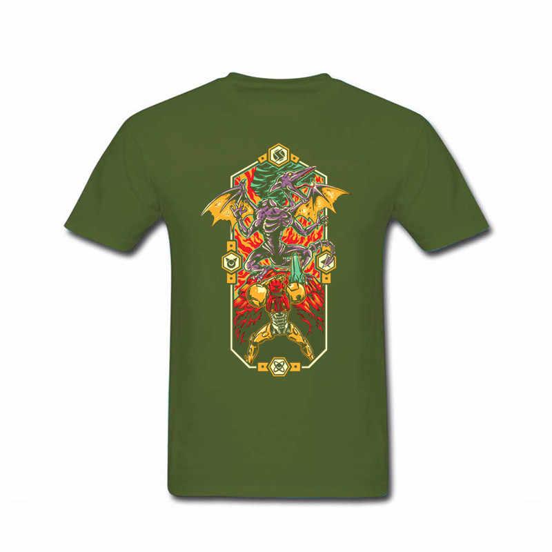 Короткий рукав 2017 мода Epic Metroid Мужская футболка продвижение 100% хлопок футболки для мужчин футболка feyenoord компрессионная