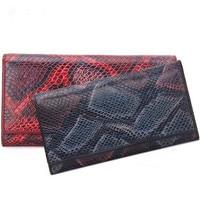 Luxury Genuine Leather Serpentine Long Women Clutch Wallets Preppy Style Purses Famous Brand Designer