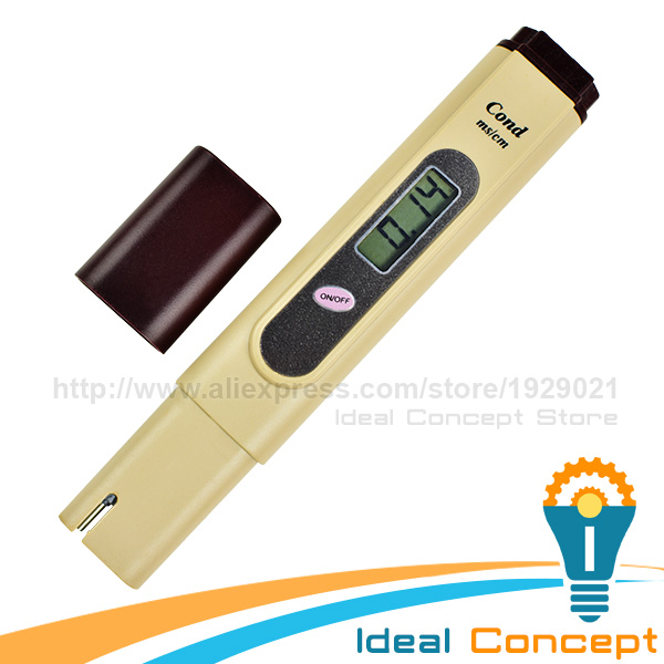 EC Tester Electrical Conductivity Meter 0~19.99ms/cm Aquarium Hydroponics Test Pentype Meter waterproof 4 in1 nutrient meter nutrient ec meter ppm meter hydroponics ec meter soil nutrient tester