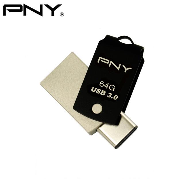 Pny ucd10 otg usb 3.0 tipo c 64 gb mini usb flash drive teléfono Llave USB Stick Disco Flash Pen Drive Dispositivos de Almacenamiento De Memoria de Metal PC