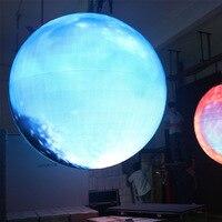 P4.8 сферические светодиодные дисплеи 360 градусов гибкий полноцветный для помещений шар Сфера светодиодный экран