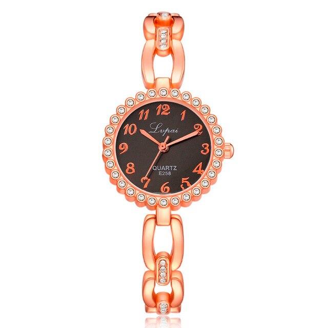 Fashion Women Watch Luxury Stainless Steel Alloy Band Ladies Small Bracelet Watc