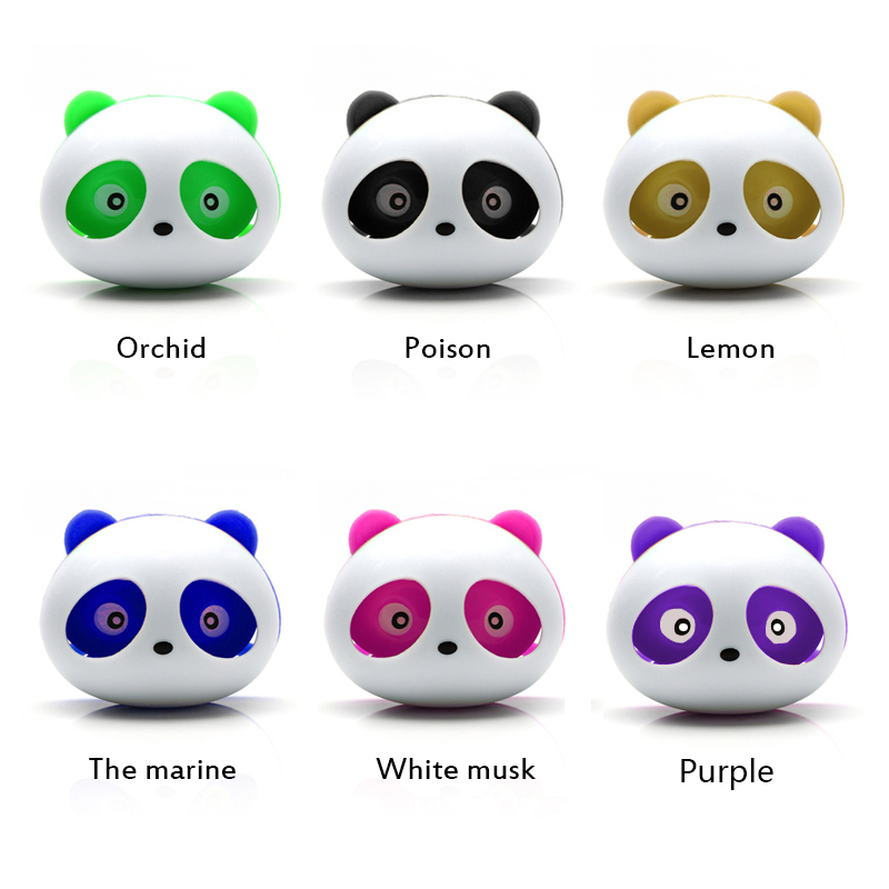 LEEPEE 2pcs Car Perfumes Air Conditioner Vent Outlet Air Freshener 100 original Fragrance Accessories Panda Eyes Will Jump