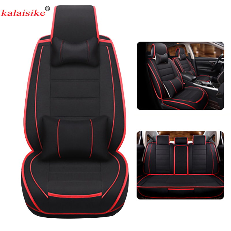 kalaisike linen universal car seat covers for kia all models ceed rio sportage sorento optima. Black Bedroom Furniture Sets. Home Design Ideas
