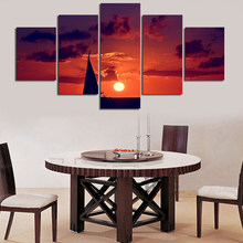 2017 Paintings Painting By Numbers Modern Wall Painting Decor Beautiful Sunset Art Picture Paint On Canvas Prints Cheap Modular(China)