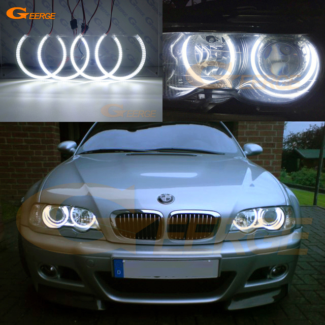 Us 37 99 11 Off Aliexpress Com Buy For Bmw E46 3 Series Coupe Pre Facelift Xenon Headlights 2000 2003 Excellent Ultra Bright Smd Led Angel Eyes