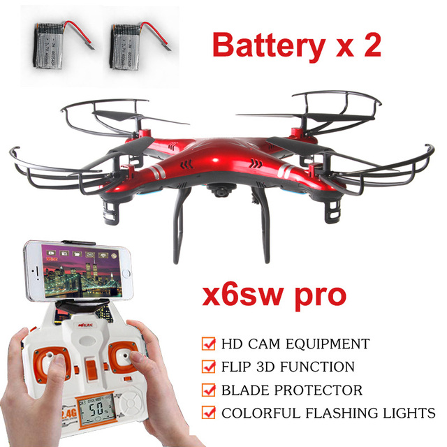 Extra batteries X6SW 2.0MP FPV WIFI camera drone rc helicopter toys quadcopter drone professional drones VS Syma X5SW MJX X600