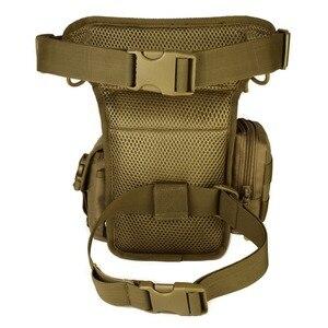 Image 2 - Men Waterproof Nylon Drop Leg Bag Fanny Waist Pack Thigh Belt Hip Bum Military Tactical for Travel Motorcycle Riding