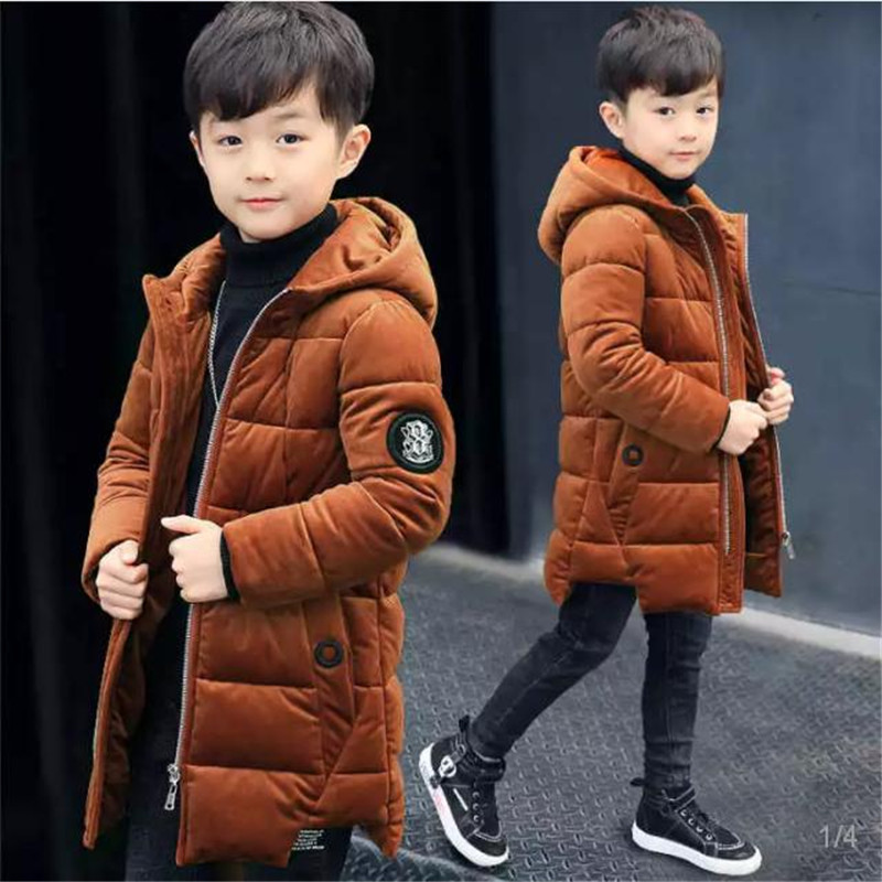 Boys cotton coat 2018 new children's winter clothing Thick cotton jacket, large children's long cotton jacket boys cotton clothing 2018 winter new children long sleeve jacket cotton padded coat long down jacket thick winter warm coats