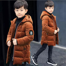 Boys cotton coat 2018 new children's winter clothing Thick cotton jacket, large children's long cotton jacket