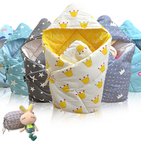 EGMAO BABY Swaddle Wrap Warm Cotton Crochet Knitted Newborn Infant Warm Sleeping Bag Baby Swaddling Blanket
