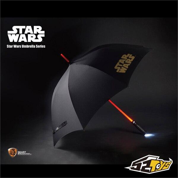 2016 Новый Зверь Царство Игрушки 1:1 Звездные войны Световой Меч прямой зонтик LED три цвета Творческие подарки