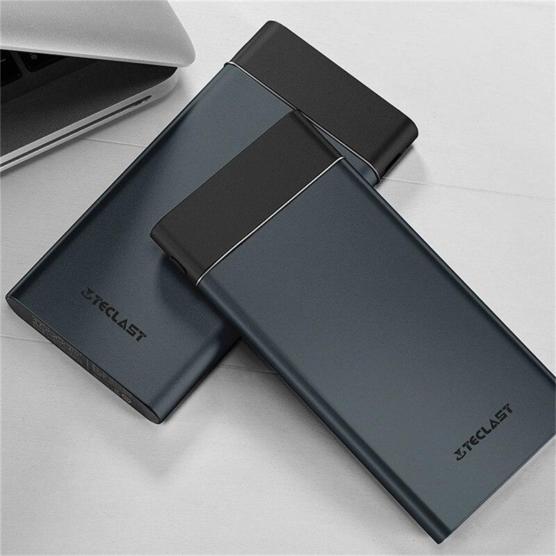 imágenes para Teclast T100UC-N Banco de la Energía Banco Portable de la Energía Móvil ultrafino Gris Oscuro Con 10000mA Para Tipo de C & doble Interfaz USB