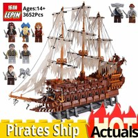LEPIN 16016 MOC Pirates of the Caribbean Movie Series Flying the Netherlands Ship Building Blocks brickheadz model building kit