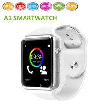 Freies verschiffen A1 Armbanduhr Bluetooth Smart Uhr Sport Pedometer Mit SIM Kamera Smartwatch Für Android Smartphone Russland gt08