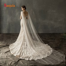Shiny Beaded Shouder Veil with Comb 2019 Special Fashion Wedding Bridal Dress Accessories 3 Meters Long Veils V123