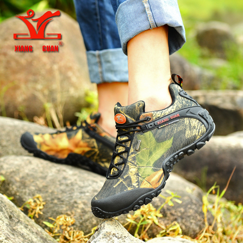 2016 XIANGGUAN man outdoor waterproof canvas hiking shoes low boots Anti skid Wear resistant breathable fish climbing sneakers sneakers running shoes sports men and women shoes rubber sole anti skid wear student shoe low upper waterproof air cushion hot