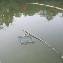 New Fishing Nets Foldable Mesh Baits Trap Cast Dip Net Crab Shrimp Smelt Eel Crab Lobster Minnows Shrimp Crawfish Net 2 Sizes