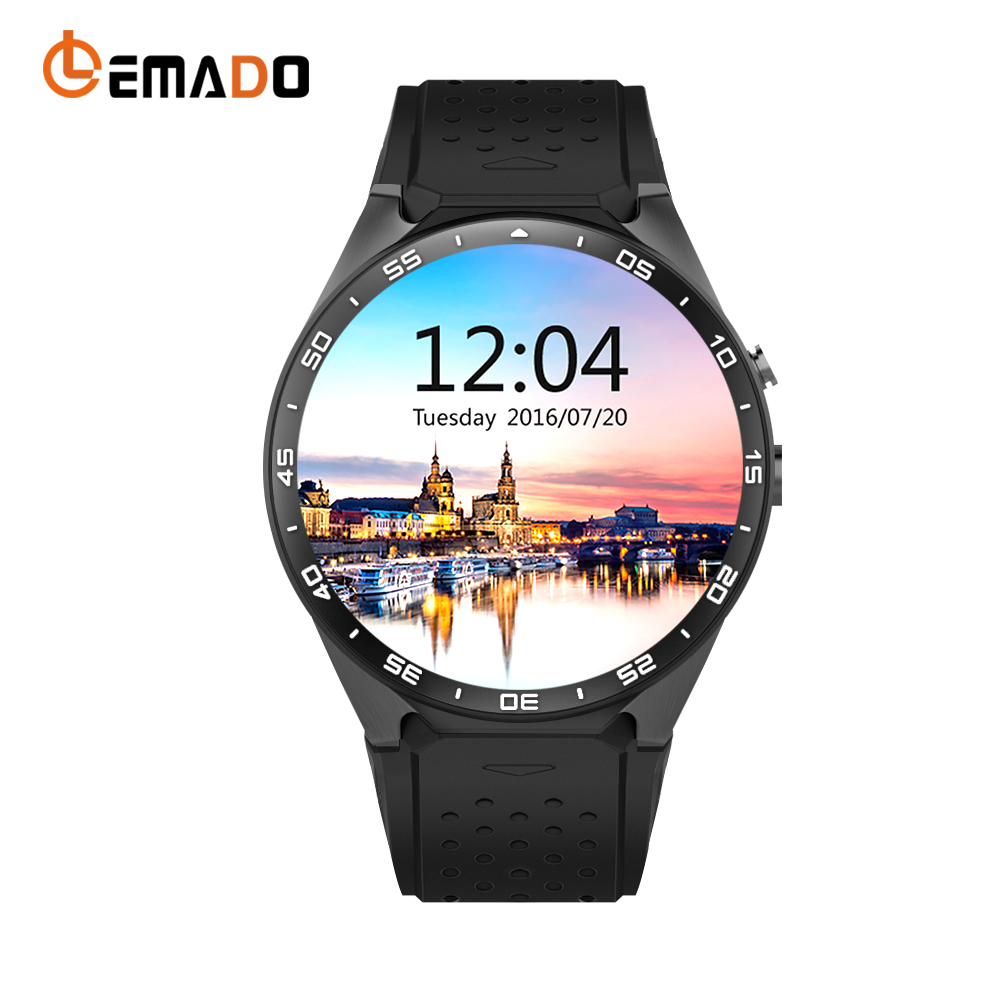 Lemado KW88 Android 5.1 Smart Watch Phone MTK6580 1.39'' 400*400 Screen GPS WIFI with 2.0MP Camera Smartwatch for iphone Xiaomi smart baby watch q60s детские часы с gps голубые