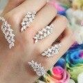 Europeu Na Moda Exclusivo personalizado Super lindo modelagem embutidos asas palma pulseira mão anel de Jóias Para as mulheres
