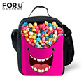 Cute Cartoon Bento Lunch Bag Emoji Smiley Cooler Lunch Box Food For Kids School Boy Girl Thermal Insulated Travel Pinic Lunchbox