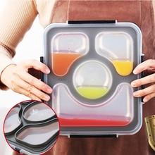 Герметичный Ланч-бокс для взрослых, контейнеры для еды с отделениями, 304 из нержавеющей стали, ланчбокс для офиса, школы, детей, Bento box
